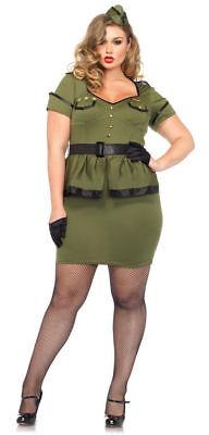 Commander Halloween Kostüme (Commander Cutie Costume. Women Plus Size, 1X/2X. Army Leg Avenue Halloween Set.)