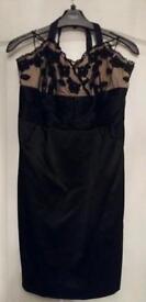 Halterneck dress and shoes