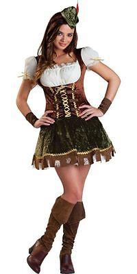 FOREST BANDIT ROBIN HOOD GIRLS STORY BOOK WEEK FANCY DRESS HALLOWEEN  COSTUME S! - Robin Hood Costume For Girls