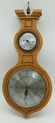 Wooden Wall Clock Barometer