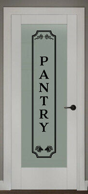 PANTRY VINYL WALL DECAL GLASS DOOR KITCHEN DECOR VINYL LETTERING FRAME SIGN ](Door Decorate)