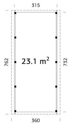 carport mit ger teraum karl 2 einzelcarport 360x762cm 12x12cm leimholzpfosten ebay. Black Bedroom Furniture Sets. Home Design Ideas