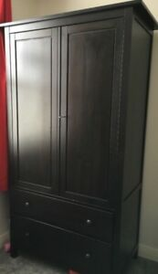 Ikea Hemnes Wardrobe - Black/Brown colour