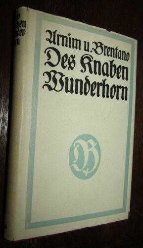 Alte DEUTSCHE VOLKLIEDER Achim von ARNIM Clemens BRENTANO Der Knaben Wunderhorn