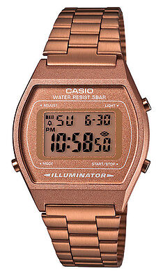Casio B640WC-5A Men's Vintage Rose Gold Tone Chronograph Alarm LCD Digital Watch