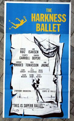 1960's Vintage HARKNESS BALLET Poster BRUNILDA RUIZ Carroll LONE ISAKSEN Deperi