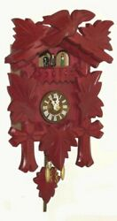 Kuckulino Black Forest Clock with quartz movement and cucko.. TU 2018 PQ rot NEW
