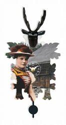 Kuckulino Black Forest Clock with quartz movement and cuckoo ch.. TU 3031 PQ NEW