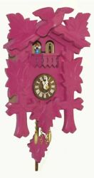 Kuckulino Black Forest Clock with quartz movement and cuck.. TU 2018 PQ pink NEW