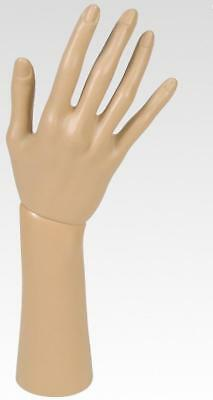 One Female Mannequin Hand Life Size To Display Gloves- 1 Right Plastic Hand