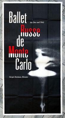 1950's 1960's Original UNUSED Vintage BALLET RUSSE de MONTE CARLO Poster DENHAM