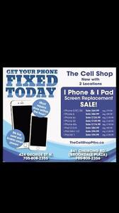 Prices on iPhone and iPad Screen Replacements are on *SALE* @ The Cell Shop