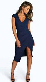 New V neck split dress booho