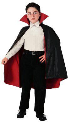 NEW Black Reversible Taffeta Vampire Child Haloween Cape by Rubies](Kids Haloween Costume)