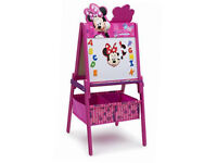 Brand New Minnie Mouse Wooden Easel With Storage
