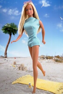 Dolls Mattel Sunsational Malibu Barbie reproduction 2002 #56061 14+