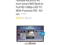 Toshiba 40 inch wifi hdmi led tv
