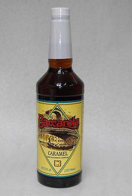 Gourmet Caramel Syrup 32oz. Barcarola Coffee Drink And Italian Soda Flavor
