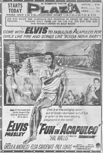 1963 ELVIS PRESLEY movie advertisement - Original