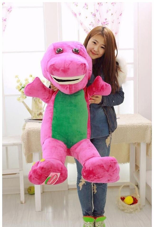 42cm Big Barney Dinosaur Plush Stuffed Soft Bear Doll Kid Baby With Music Pillow