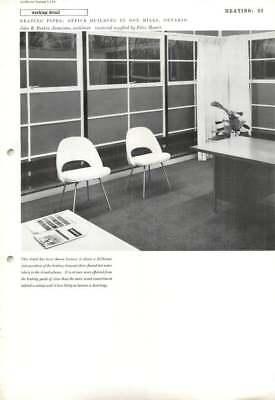 1959 Heating Pipes: Office Building In Don Mills, Ontario, John B. Parkin
