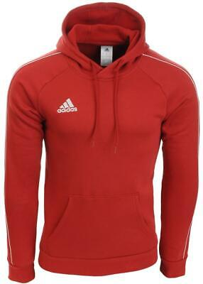 Men's Adidas Core18 Pullover Hoody Jumper Sweatshirt Red