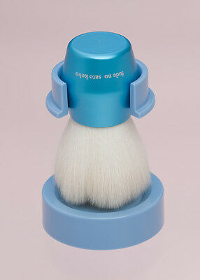 Kumano brush  Face cleansing brush blue flower design  Handmade from Japan