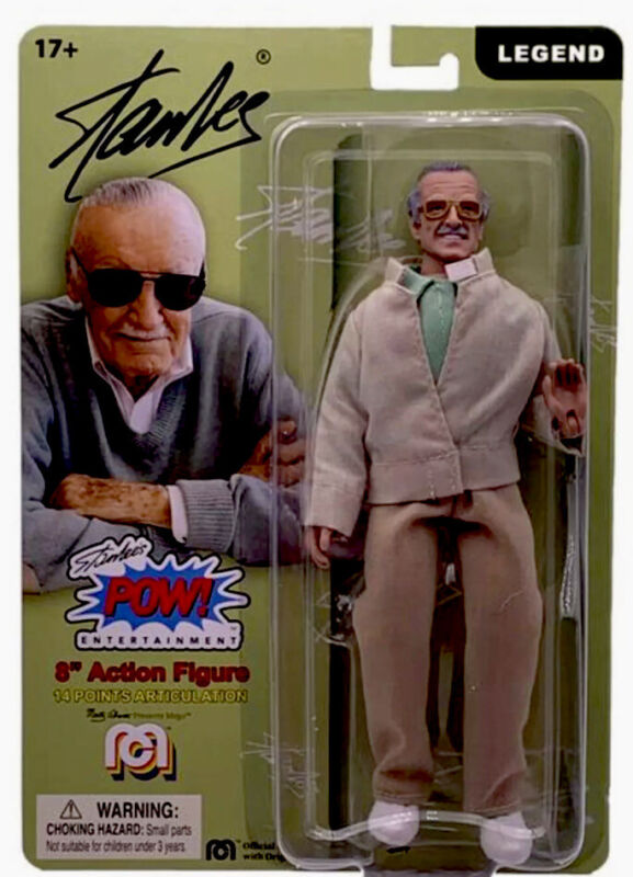 "STAN LEE - Classic 8"" MEGO Action Figure / Comic Book Action Hero Legend"
