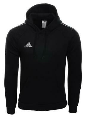 Men's Adidas Core18 Pullover Hoody Jumper Sweatshirt  Black