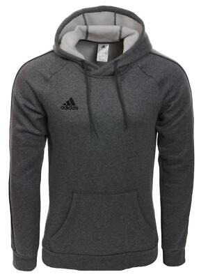 Men's Adidas Core18 Pullover Hoody Jumper Sweatshirt  Grey
