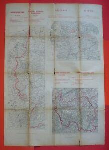 Westgrenze von Deutschland, Schleswig, Saargebiet/Saarland - 1920 ? - Karte map - Besko, Polska - Westgrenze von Deutschland, Schleswig, Saargebiet/Saarland - 1920 ? - Karte map - Besko, Polska