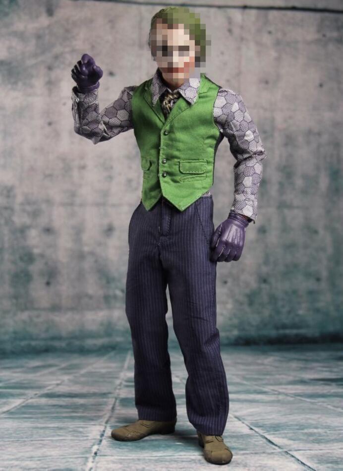 1//6 Joker Heath Ledger Costume Suit 2.0 Batman For DX01 DX11 Hot Toys set USA