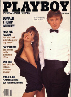 1990s Donald Trump Playboy Magazine cover replica fridge magnet - new!
