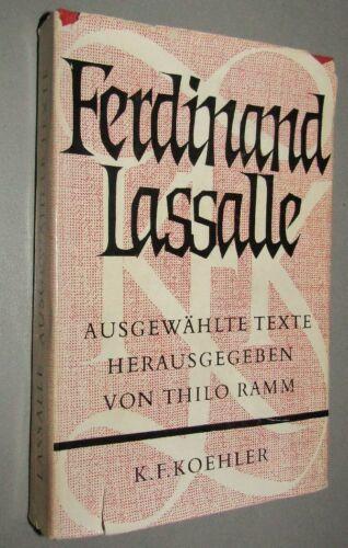 Ferdinand LASSALLE (1825- 1864) Ausgewählte Texte 1962 Theoretiker des Sozialism