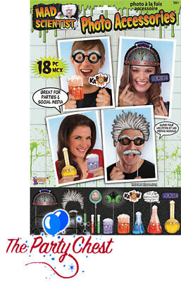 18 MAD SCIENTIST PARTY PHOTO BOOTH PROPS Halloween Party Selfie Photo Props 1055 ()