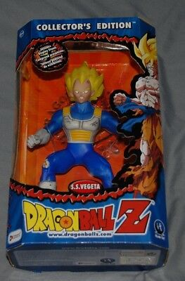"""Dragonball Z Collector's Edition 9"""" figurine with display stand SS Vegeta"""