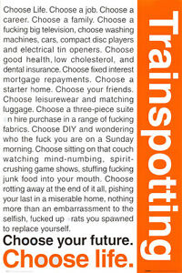 Trainspotting Poster Print, 24x36