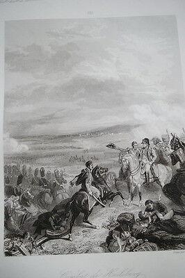 NAPOLEON COMBAT HEILSBERG GRAVURE 1838 VERSAILLES R1129 IN FOLIO