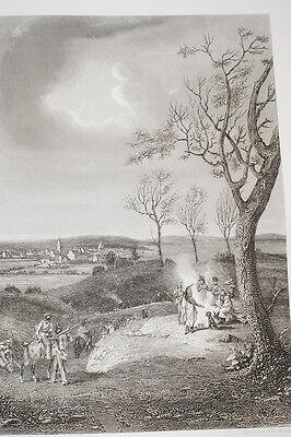 NAPOLEON BIVOUAC D'OSTERODE GRAVURE 1838 VERSAILLES R1124 IN FOLIO