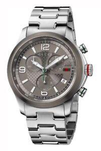 34ddb5312e7 Gucci G-Timeless Grey Chronograph Dial Steel Men s Watch YA126238