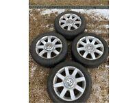 "16"" 5x112 Vw Volkswagen Passat Golf Sirocco Alloy Wheels Alloys With Tyres Gen"