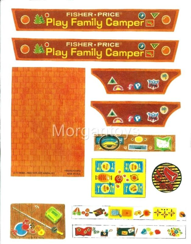 FISHER-PRICE REPLACEMENT LITHOS LITTLE PEOPLE #994 CAMPER PLAY FAMILY COMPLETE