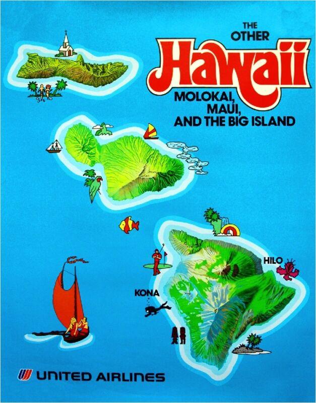 The Other Hawaii Maui Hawaiian Island United States Travel Advertisement Poster