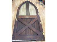 Very large antique oak Tudor style door