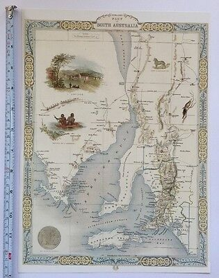 "Tallis 13 X 9/"" Reprint 1851 Old Antique vintage colour map 1800s China /& Birmah"