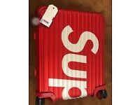 Supreme x Rimowa 45 l red suitcase
