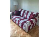 Dfs striped sofa - like new