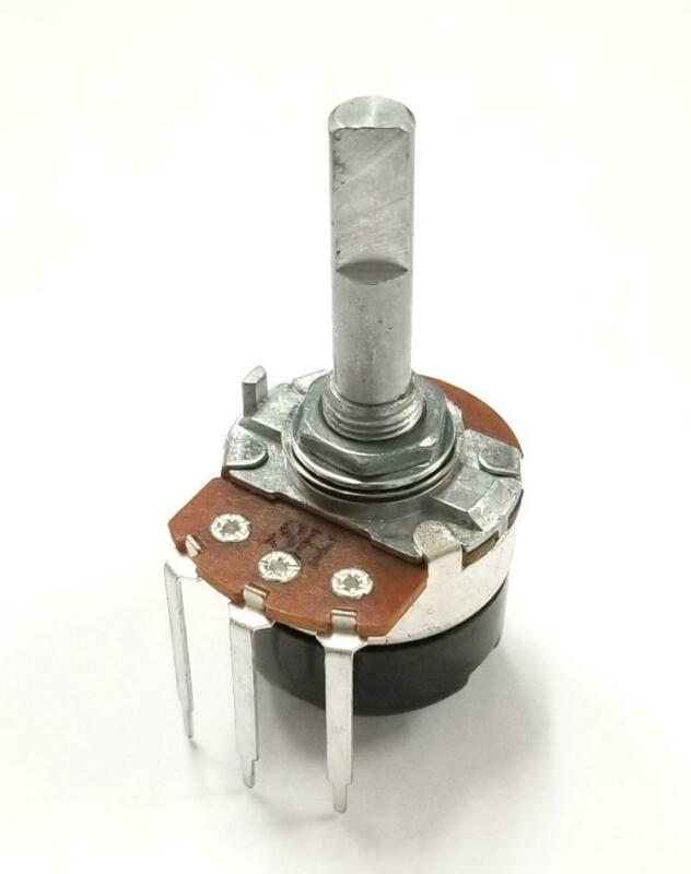 "Philmore PC375 500K Ohm Audio Taper Potentiometer Switch 24mm Body 1/4"" D Shaft"