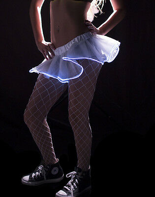 Tutu White with LED Lights Miniskirt Ideal Costume Suits Parties Carnival - Tutu With Lights