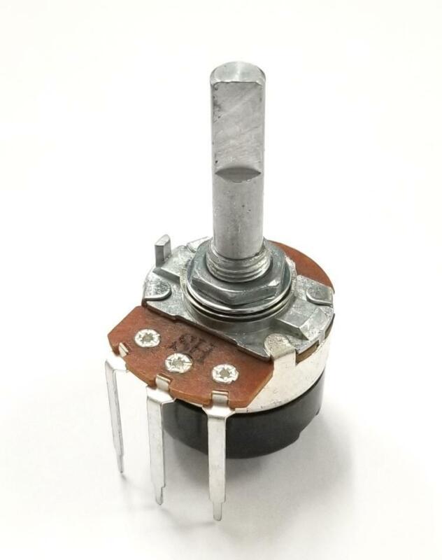 "Philmore PC335 5K Ohm Audio Taper Potentiometer w/Switch, 24mm Body 1/4"" D Shaft"